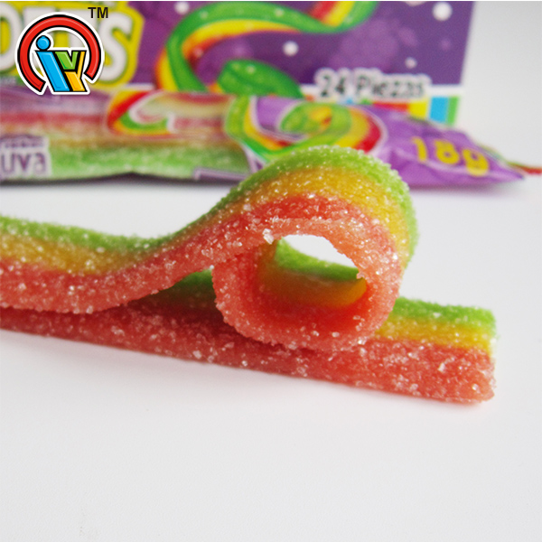 sweet fruity gummy belt candy