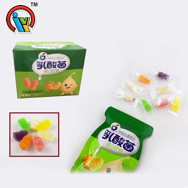 bottle shaped chewing candy gummy candy