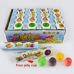 four fruity jelly cup candy