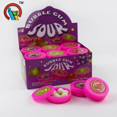 chewing bubble gum with powder candy