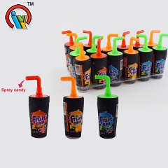 Cola shape fruity spray liquid candy